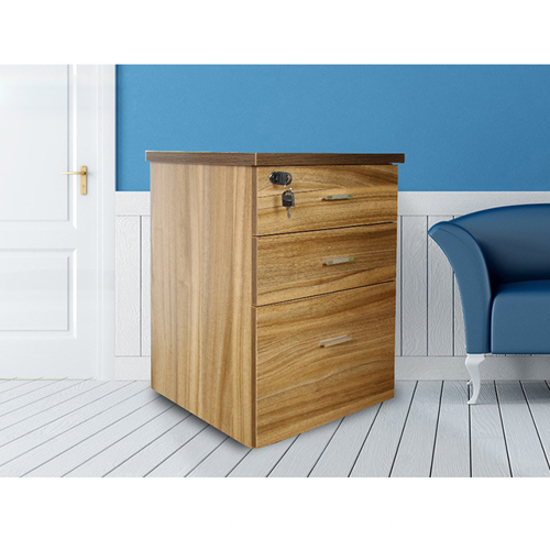 Melamine 3 Drawer Chest With Lock Image 9
