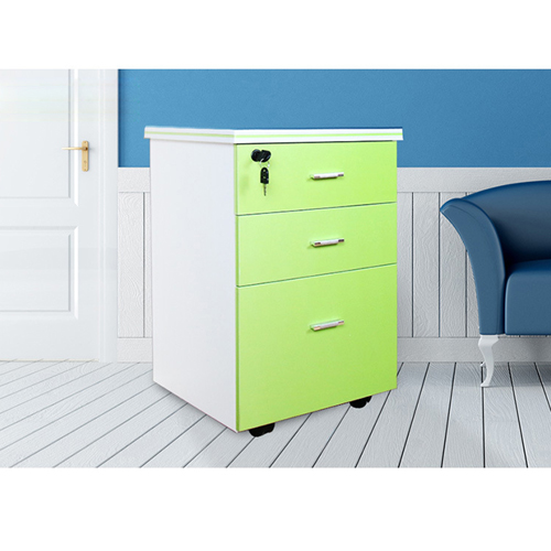 Melamine 3 Drawer Chest With Lock Image 10