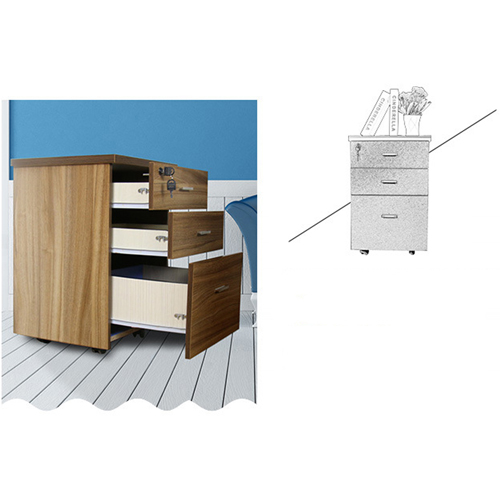Melamine 3 Drawer Chest With Lock Image 11