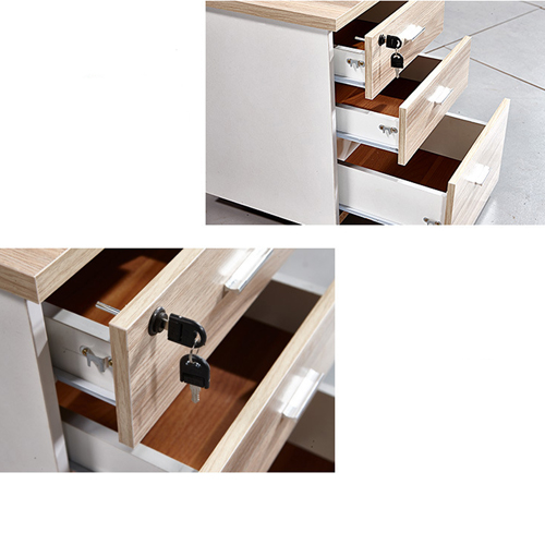 Melamine 3 Drawer Chest With Lock Image 14
