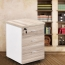 Melamine 3 Drawer Chest With Lock Image 1