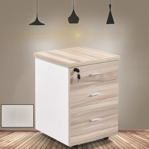 Melamine 3 Drawer Chest With Lock Image 3