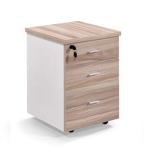 Melamine 3 Drawer Chest With Lock