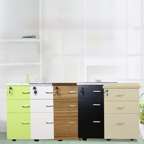 Melamine 3 Drawer Chest With Lock Image 4