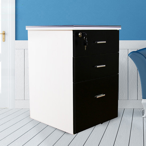Melamine 3 Drawer Chest With Lock Image 6