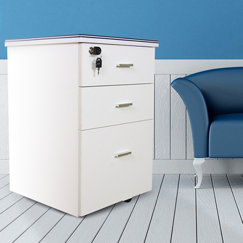 Melamine 3 Drawer Chest With Lock Image 7