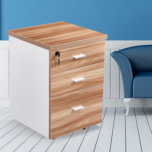Melamine 3 Drawer Chest With Lock Image 8