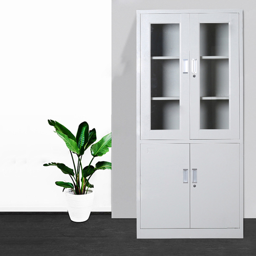 Metal Up Swing Glass Door Cabinet