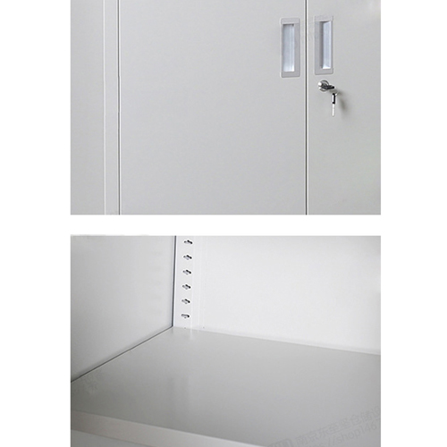 Multifunction 2 Layer Storage Metal Cabinet Image 13