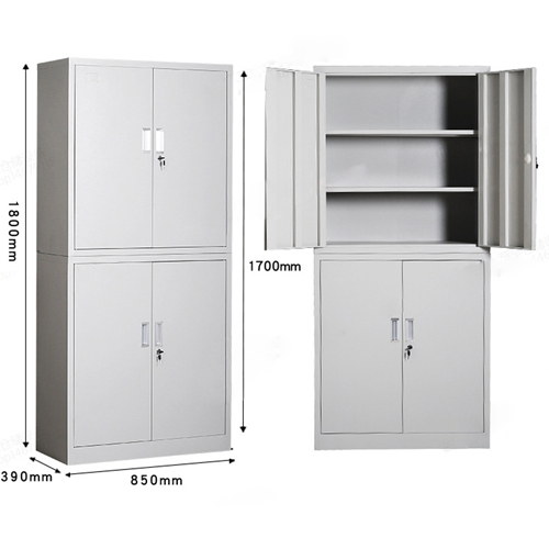 Multifunction 2 Layer Storage Metal Cabinet