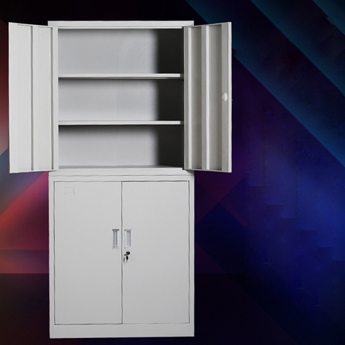 Multifunction 2 Layer Storage Metal Cabinet Image 2