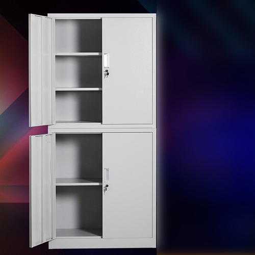 Multifunction 2 Layer Storage Metal Cabinet Image 3