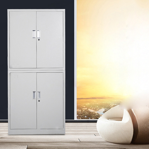 Multifunction 2 Layer Storage Metal Cabinet Image 5