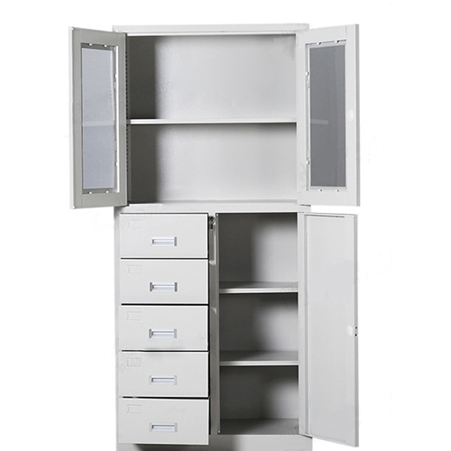 Partial Five Bucket Steel File Cabinet Image 10