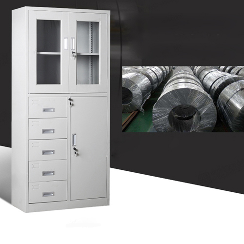 Partial Five Bucket Steel File Cabinet Image 11