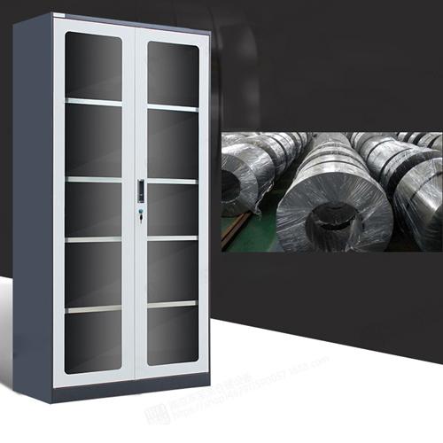 Steel Double Door Bookcase With Glass Door Image 9