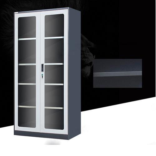Steel Double Door Bookcase With Glass Door Image 10