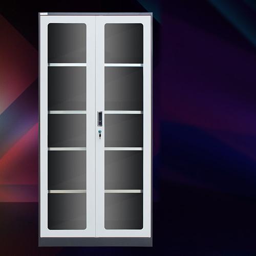 Steel Double Door Bookcase With Glass Door Image 2