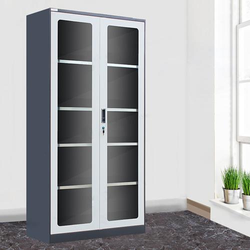 Steel Double Door Bookcase With Glass Door Image 4