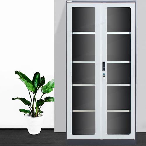 Steel Double Door Bookcase With Glass Door Image 5