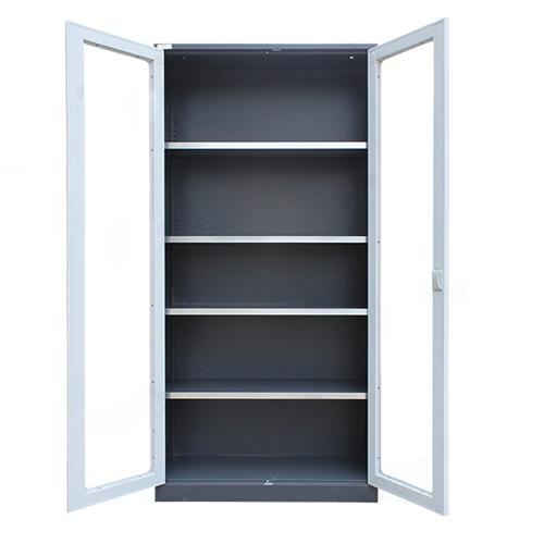 Steel Double Door Bookcase With Glass Door Image 8