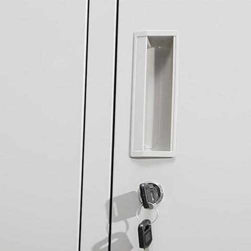 Steel Lockable Two-Door Dressing Wardrobe Image 10