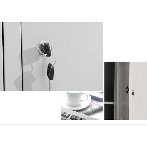 Steel Lockable Two-Door Dressing Wardrobe Image 12