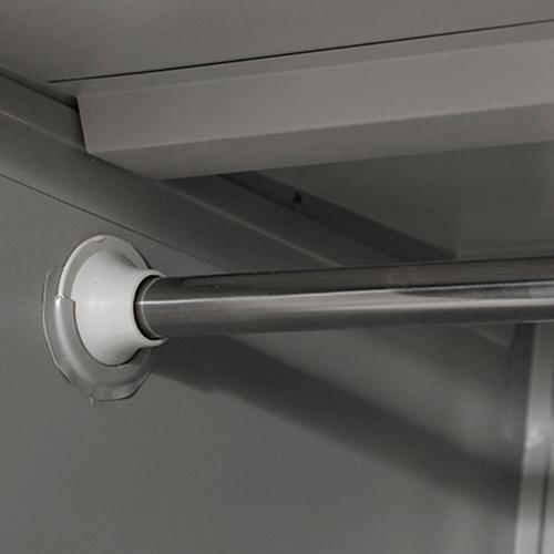 Steel Lockable Two-Door Dressing Wardrobe Image 15