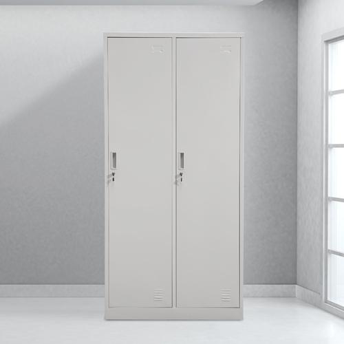 Steel Lockable Two-Door Dressing Wardrobe Image 1