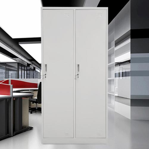 Steel Lockable Two-Door Dressing Wardrobe Image 4