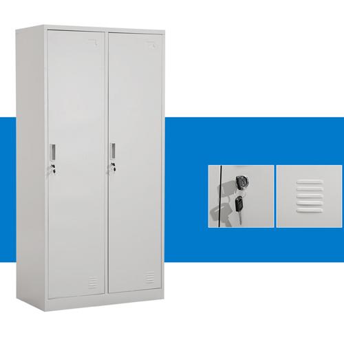 Steel Lockable Two-Door Dressing Wardrobe Image 5