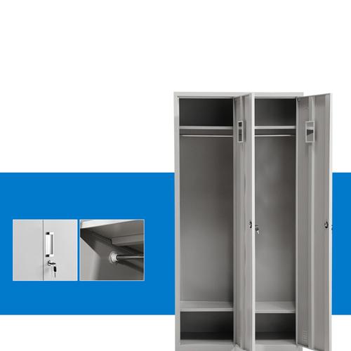 Steel Lockable Two-Door Dressing Wardrobe Image 6