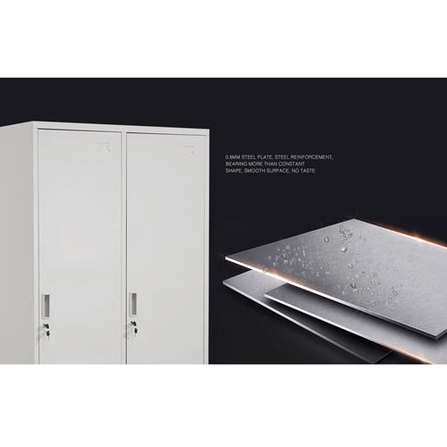 Steel Lockable Two-Door Dressing Wardrobe Image 8