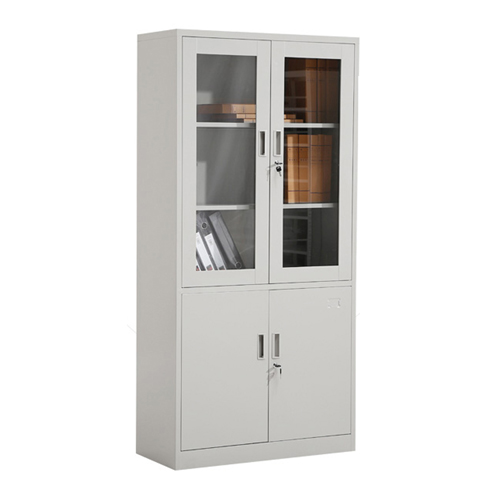 Large Metal Lockable File Cabinet With Glass Door Image 5