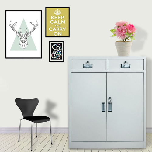 Steel Floor File Cabinet with Drawer Image 2