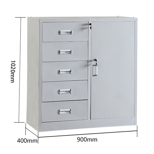 Single Side Door Steel Cabinet with Drawer Image 9