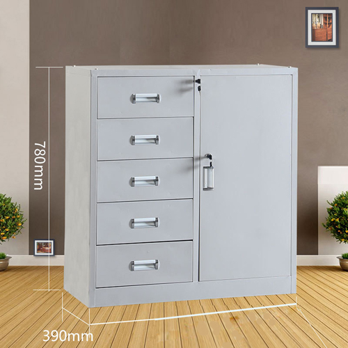 Single Side Door Steel Cabinet with Drawer Image 10