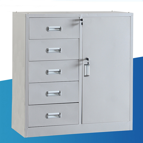 Single Side Door Steel Cabinet with Drawer Image 2