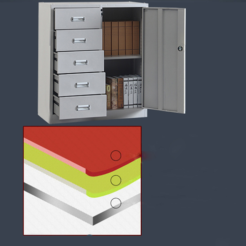 Single Side Door Steel Cabinet with Drawer Image 3
