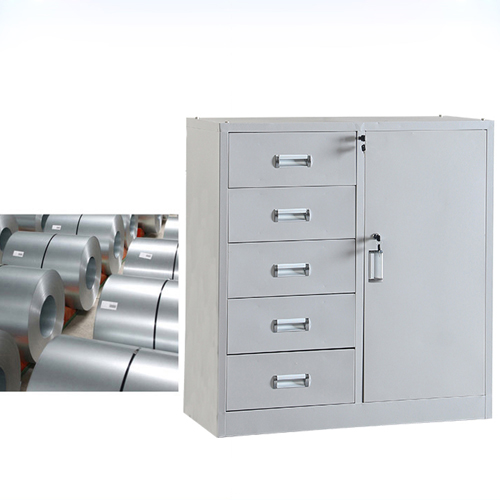 Single Side Door Steel Cabinet with Drawer Image 4