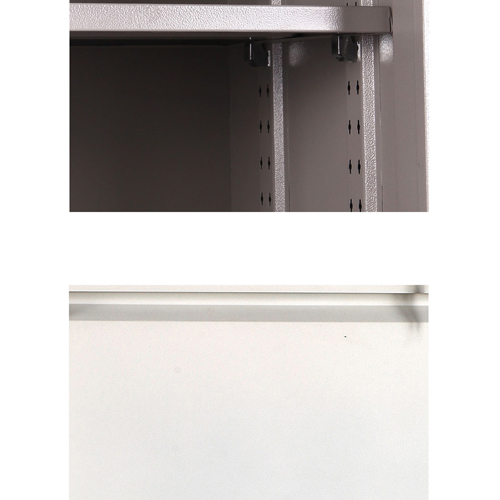 Steel Side File Cabinet with Glass Doors Image 9