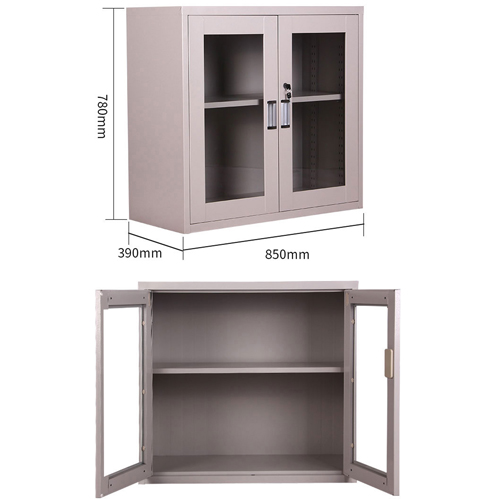 Steel Side File Cabinet with Glass Doors Image 10
