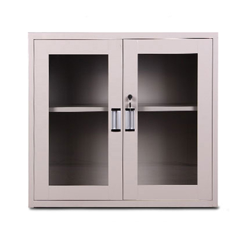 Steel Side File Cabinet with Glass Doors Image 3