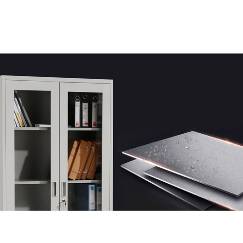 Metal File Storage Cabinet with Glass Door Image 9
