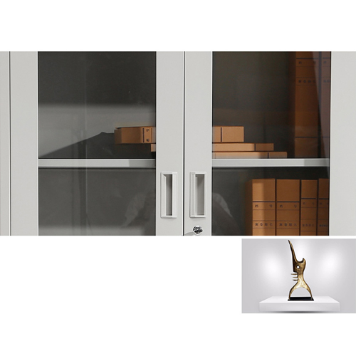 Metal File Storage Cabinet with Glass Door Image 10