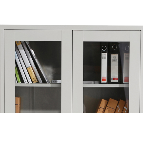Metal File Storage Cabinet with Glass Door Image 11