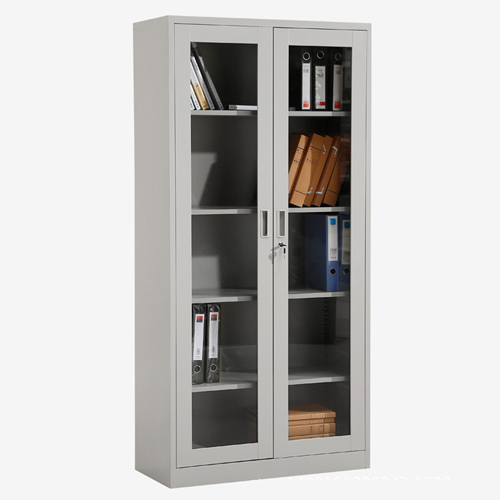 Metal File Storage Cabinet with Glass Door