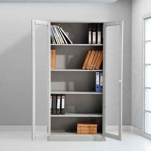Metal File Storage Cabinet with Glass Door Image 2