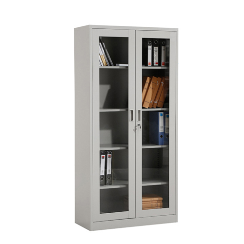 Metal File Storage Cabinet with Glass Door Image 4
