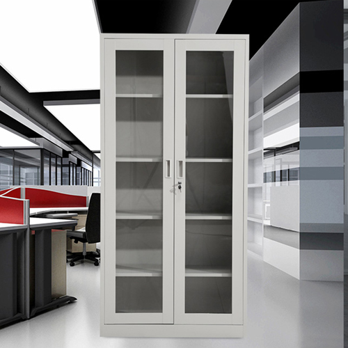 Metal File Storage Cabinet with Glass Door Image 5